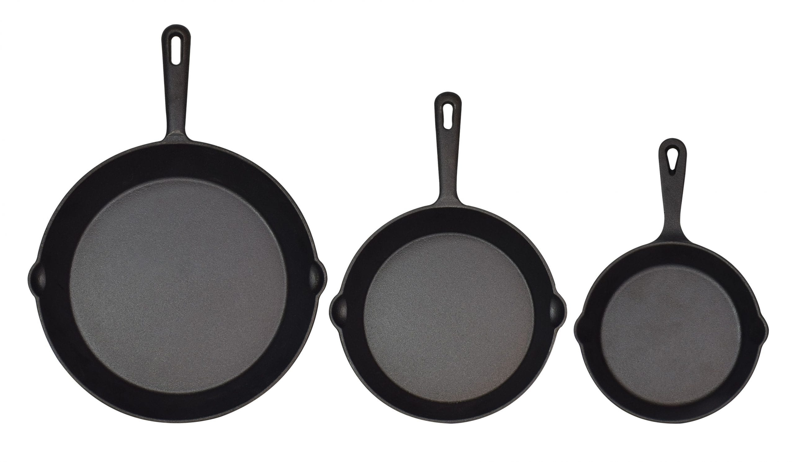 Jim Beam Cast Iron 3 Skillet Set 6 810 scaled