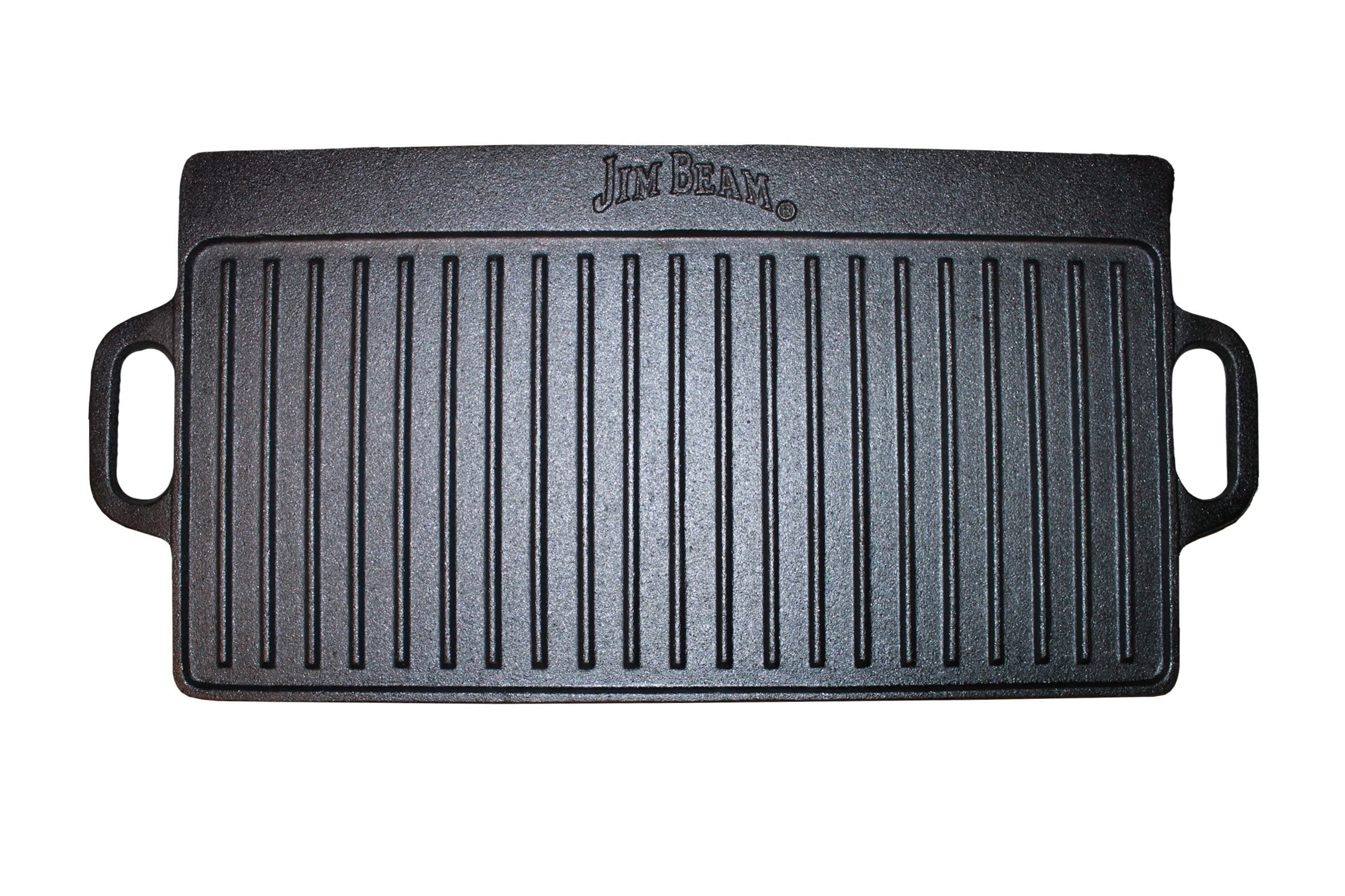Jim Beam Cast Iron Double Sided Reverisble Griddle