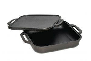 Jim Beam Cst Iron 3 in 1 Skillet with Reversible Griddle 2