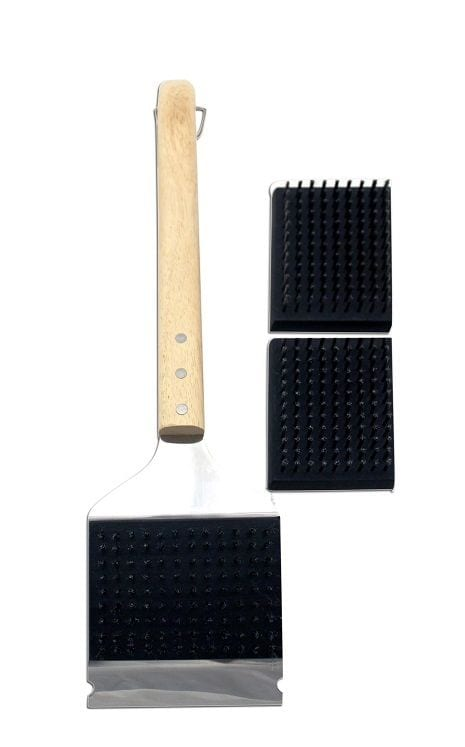 Jim Beam Large Grill Cleaning Brush with 2 extra heads