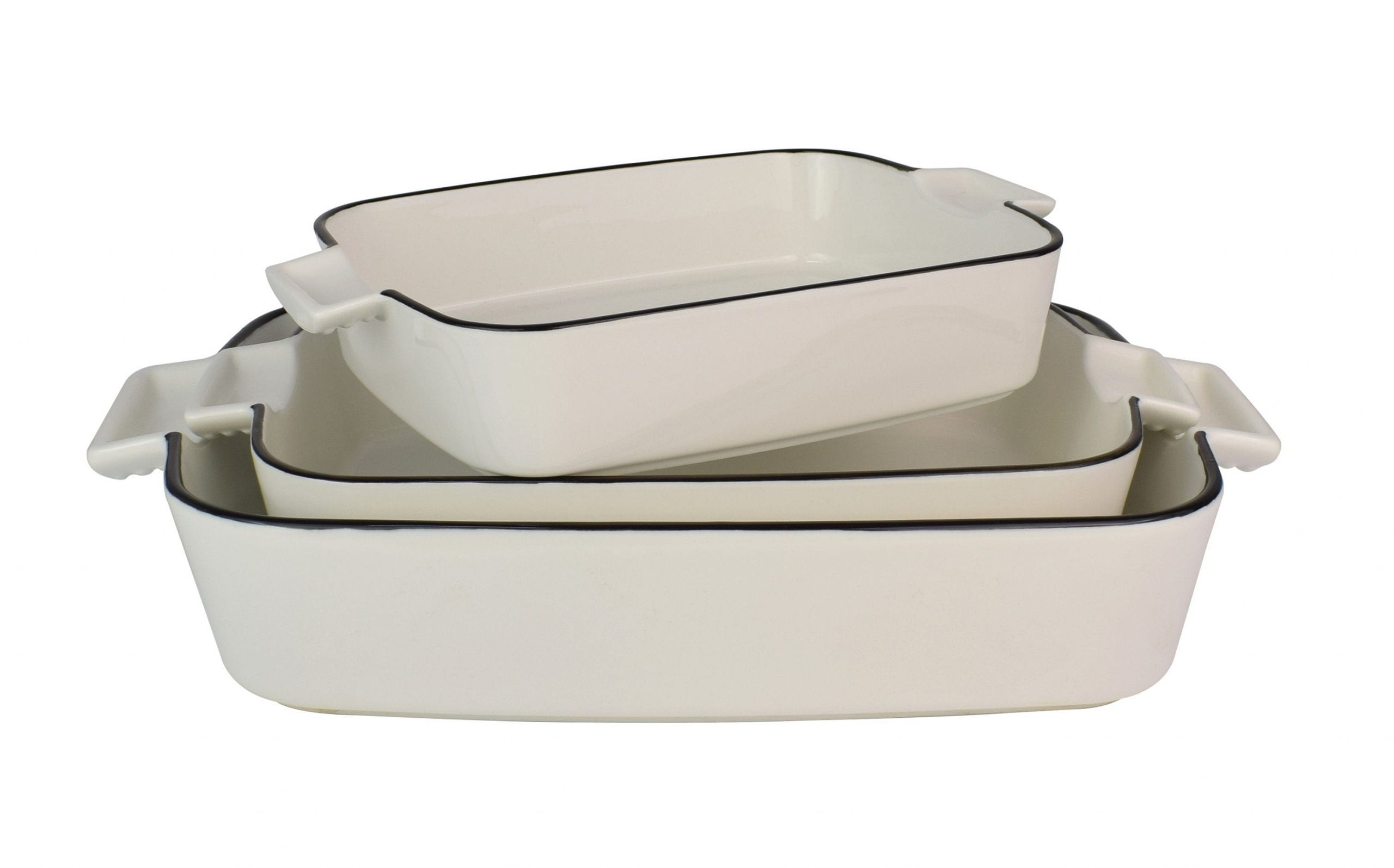 Le Regalo Stoneware 3Pc Rectangular Baking dish set scaled