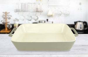 Le Regalo Stoneware Baking Dish with Hand