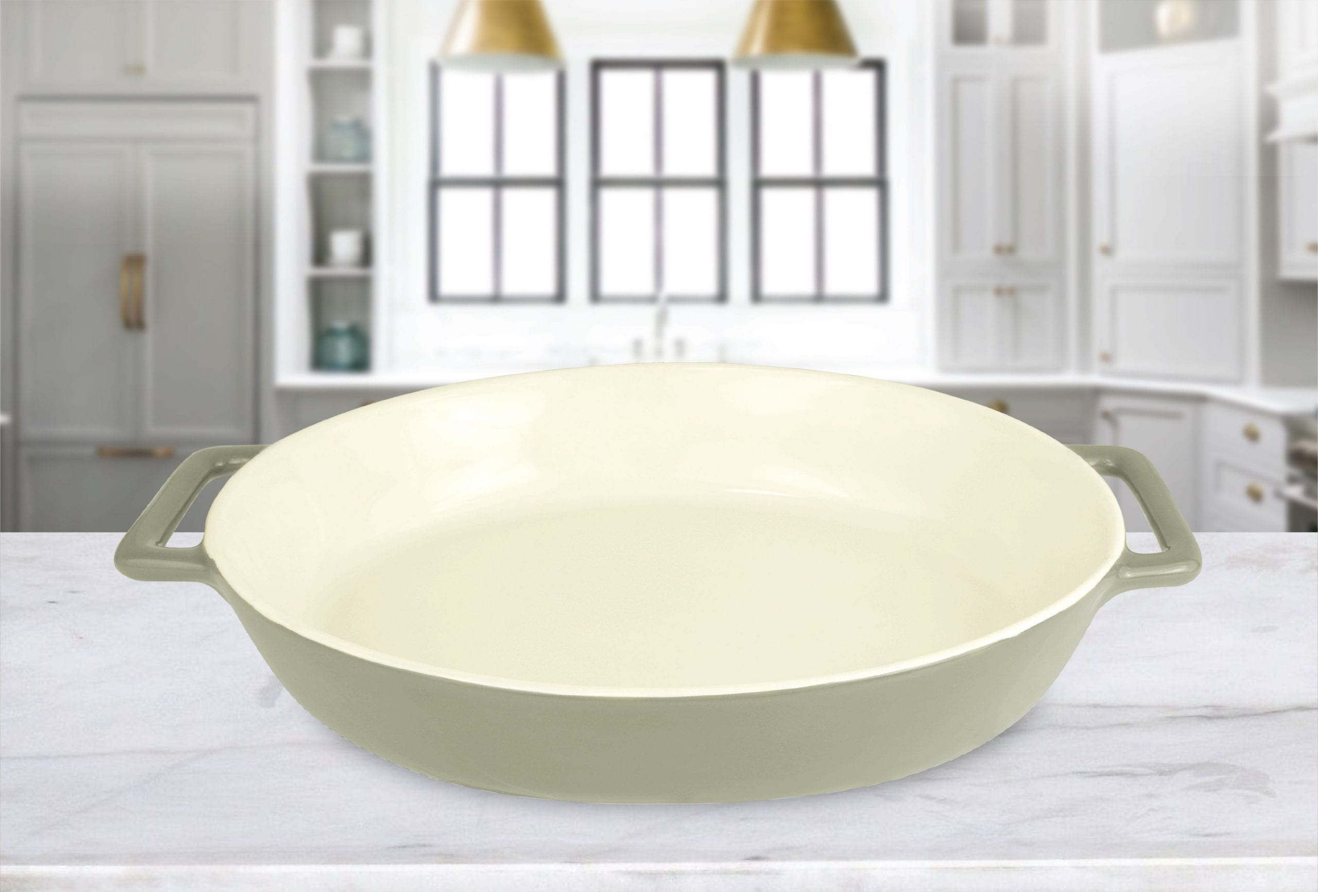 Le Regalo Stoneware Oval Baking Dish w Handles 1 scaled