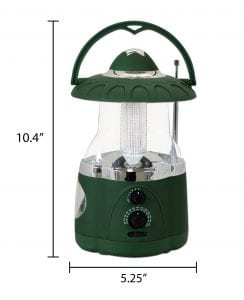 Northpoint Multifunction LED Lantern with Flashlight and AMFM Radio (Green) 2