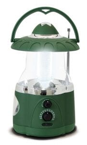 Northpoint Multifunction LED Lantern with Flashlight and AMFM Radio (Green)