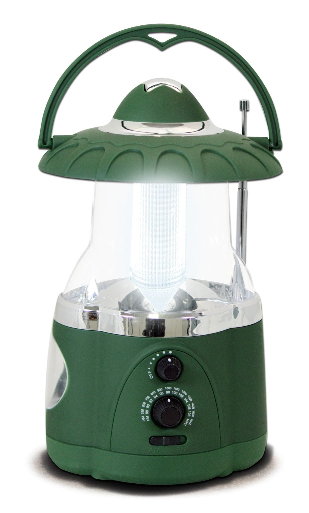 Northpoint Multifunction LED Lantern with Flashlight and AMFM Radio Green