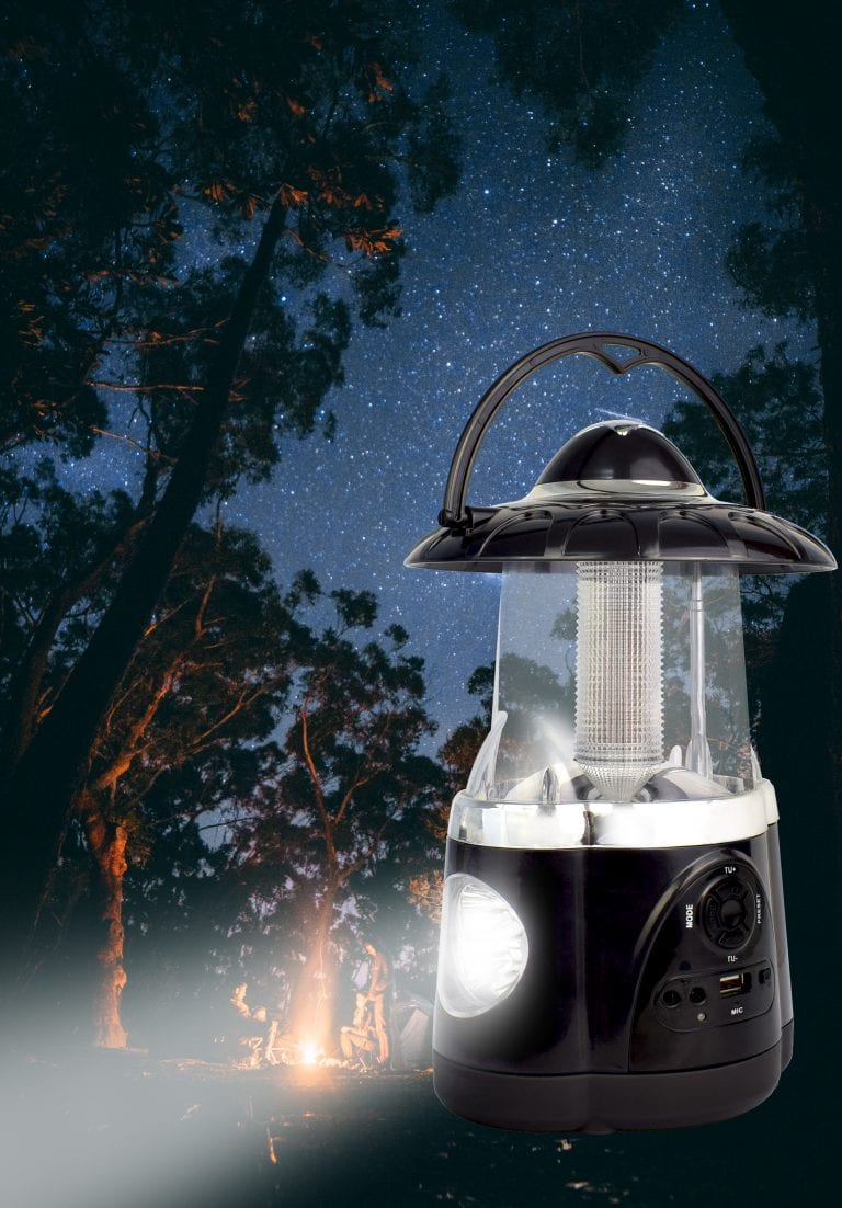 Northpoint Multifunctional Bluetooth Lantern with AMFM Radio Black 3