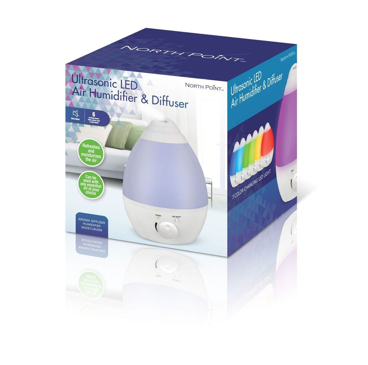 Northpoint Ultrasonic Humidifier 2.0L Capacity1