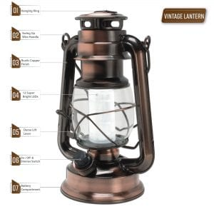Northpoint Vintage Style Copper Lantern2