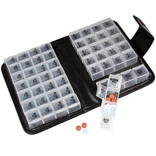 Smart Essentials 2 Week Pill Organizer Tpestry Design 2