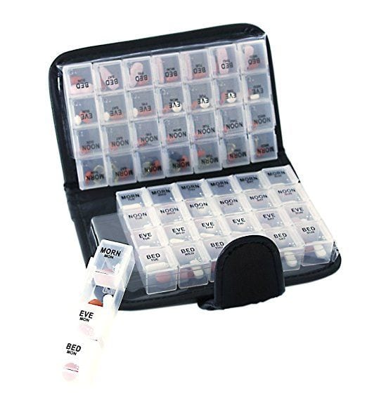 Smart Essentials 2 Week Pill Organizer Tpestry Design