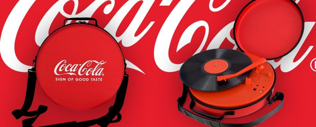 Turntable Coca cola banner
